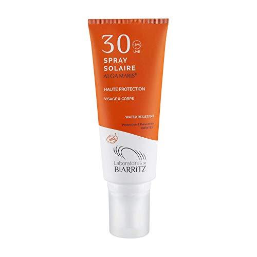 Algamaris Spray Solaire Spf50+ Certifiée Bio, Très Haute Protection Solaire Naturelle,...