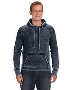 Adult Vintage Zen Fleece Pullover Hood VINTAGE NAVY M (Fleece Gefärbt Aus)