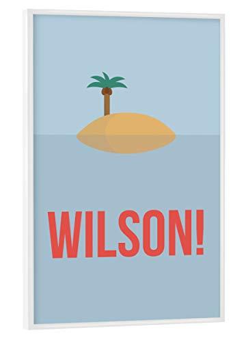 artboxONE Poster mit weißem Rahmen 30x20 cm Wilson! von Künstler Tim Löhrs - Poster mit Kunststoffrahmen