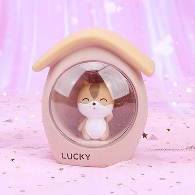 Kinderzimmer Baby Nachttischlampe LED Harz Cartoon Eichhörnchen Nachtlicht Schlafzimmer Dekoration Handwerk