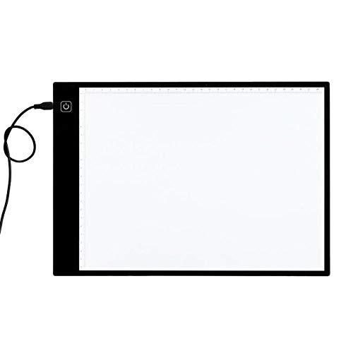 Preisvergleich Produktbild HLBJ Malbrett Leuchtkasten Digital A4 Led Grafiktablett Anzeigetafel Leuchtschablone Grafiker Dünne Kunstschablone Zeichenbrett Leuchtbox Spurentablett