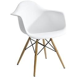 Eurosilla ST009 - Silla para comedor, 61 x 45 x 62 cm, color blanco