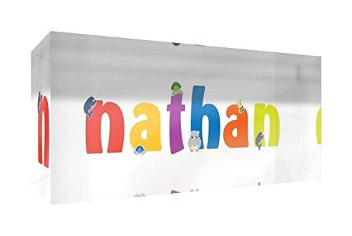 Little Helper Erinnerung Deko Acryl Transparent poliert wie Diamant Stil illustrativen bunt mit dem Namen de jeune Jungen Nathan 5x 15x 2cm klein