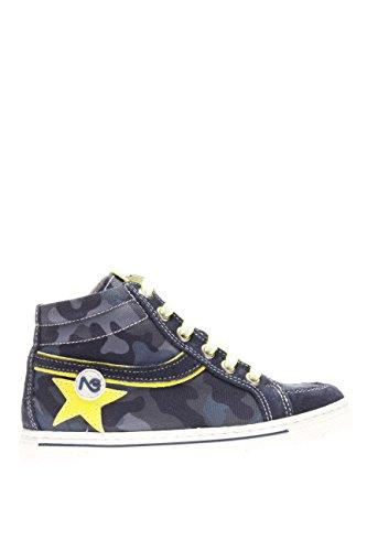 Nero Giardini Junior Kinder Sneaker High p629860m-207Sneaker High Wildleder Stoff Blau