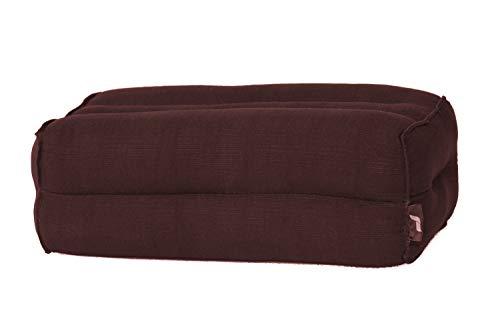 Yoga Block Yoga-Klotz Pilates Yogakissen Ökologisches Naturprodukt, 35x15x10 cm, Kapok, Braun
