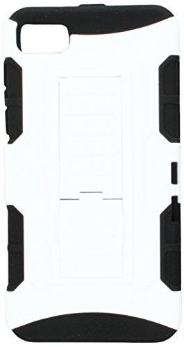 MyBat Asmyna Schutzhülle für BlackBerry Z10, gummiert, White/Black Car White Blackberry Faceplates