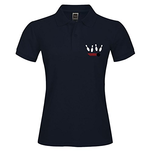 New Basic Version Polo Shirts Größe mit Cool Bowling Tricolor Stil Polo Tees Medium navy (Navy Toddler Bekleidung)