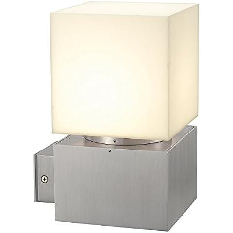 SLV 230706 SQUARE WL wall lamp, square, alu brushed, E27, max. 20W