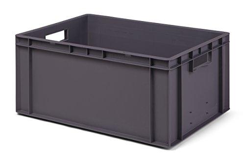 Euro-Transport-Stapelkasten/Lagerbehälter TK 600/270-0, grau, 600x400x270 mm (LxBxH), lebensmittelecht
