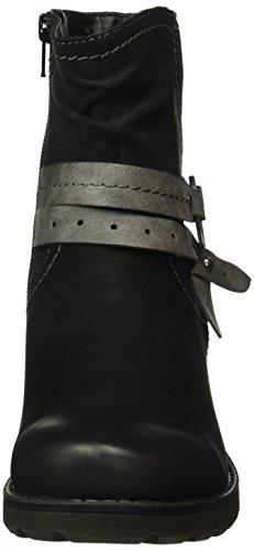 Jana Damen 25417 Kurzschaft Stiefel Schwarz (Black 001)