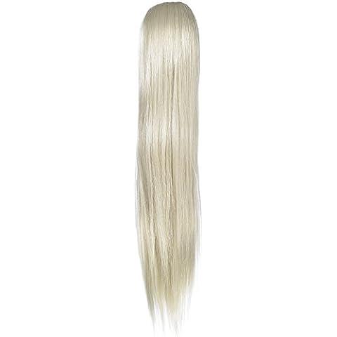 Amor Cabello Extensiones Alice cola de caballo - la fijación mediante elástica - pelo sintético de alta calidad - Color 22 - Playa de rubio, 1er Pack (1 x 1 pieza)