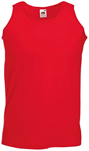 Fruit Of The Loom Athletic Tank Top für Männer (S) (Rot) S,Rot (Shirt Roten Tank-top)