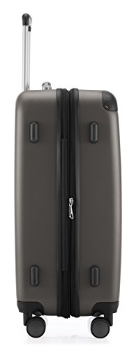 HAUPTSTADTKOFFER - Spree - 3er Koffer-Set Trolley-Set Rollkoffer Reisekoffer Erweiterbar, TSA, 4 Rollen, (S, M & L), Graphite,235 Liter - 7