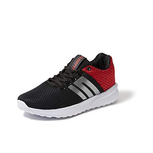 ba8fc42e0fd3d Amazon Cashback or Rewards Gift Offers - Fusefit Men's BRIO  Black/Red/Silver Running Shoes-8 UK/India (42EU) (FFR-217)