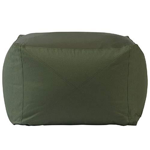 XIAODANSHAFA Sitzsack Sofa Stuhl Rechteckig Faules Sofa Kinder Stabil Bequemes Schlafzimmer Im Freien Geeignet Für Spiele WOSHI (Color : Twill Olive Green) -