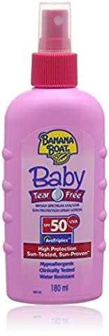 Banana Boat Tear Free Protection Spray Sun Lotion SPF 50, 180ml