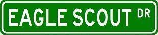 Alotta Signs Eagle Scout Street Schild ~ Custom Aluminium Verkehrsschilder -