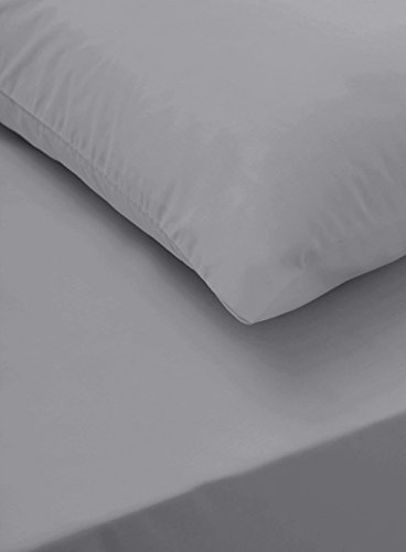 Sapphire collection 300 Thread Count 100% Egyptian Cotton Fitted Sheets All Sizes (Double, Grey)
