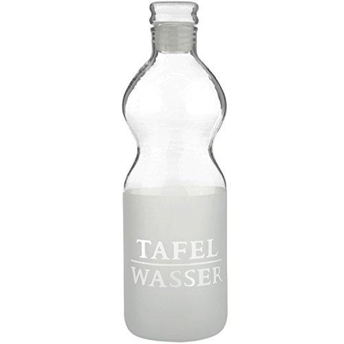 Wasserflasche aus Glas Wasserspender Trinkflasche Wasser Glasflasche Flasche mit Deckel 0,5 Liter / H: 22cm