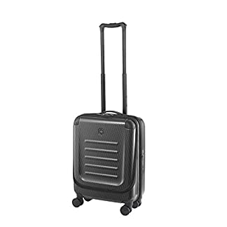 Victorinox Spectra 2.0 Dual Access Global Carry-On – Maleta rígida con Ruedas (20 x 38 x 55 cm), Color Negro