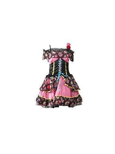 Emmas Wardrobe Tag der Toten Outfit - Enthält mexikanischen Senorita Kleid, Schleier und Lange Schwarze Handschuhe Steampunk Kostüm Halloween Parades UK Größen 8-10 (Women:34, Short Skirt)