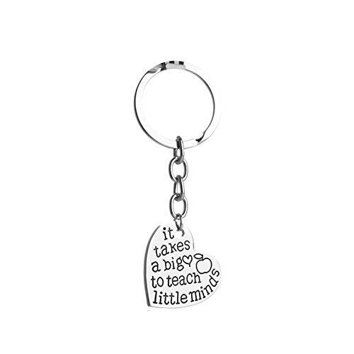 Emorias 1PC Keychain Big Little Minds Auto Keys Herzform Schlüsselanhänger Metall Schlüsselbund Geschenk