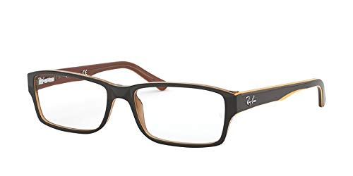 Ray-Ban Herren 0RX5169 Brillengestelle, Braun (Trasp Light Brown Top Yellow), 52