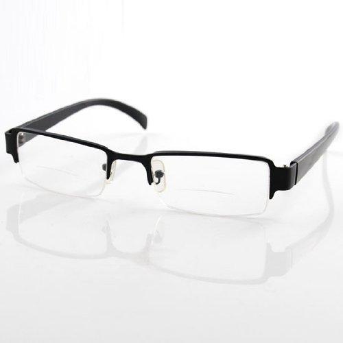 Preisvergleich Produktbild THG Gent Männer Lesebrille mit schwarzem Aluminiumrahmen und +2, 5 Dioptrien (bifokal,  weitsichtig),  Unisex