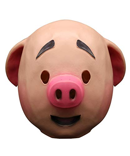 Vaycally Latex Maske Kreative Komische Maske Maskerade Schwein Kopf Maske Party Latex Tier Halloween Cosplay Kostüm Die Latex Maske Super Lustige Festival Geschenke