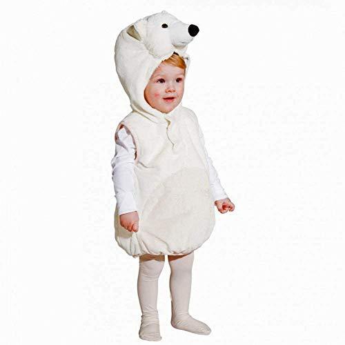 Kinderkostüm Eisbär 104 Weste Fasching Bär Tierkostüm Plüsch Eisbärenkostüm