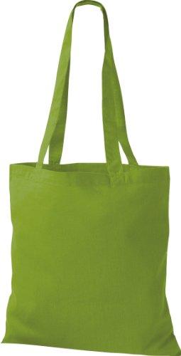 Borsa In Tessuto Tinta Unita In Cotone Borsa A Spalla Shopper In Sacchetto Di Cotone Molti Colori Verde Lime