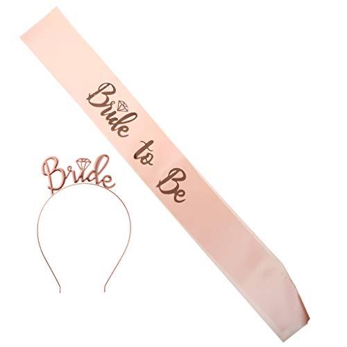 llenabschied Schärpe und Haarreif Set, Geschenk für Braut ()