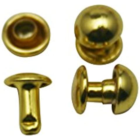 Juego de remaches ciegos gorra Amanteao Golden doble Hunter 6 mm y poste de 6 mm unidades 200 para
