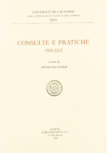 Consulte E Pratiche 1505-1512