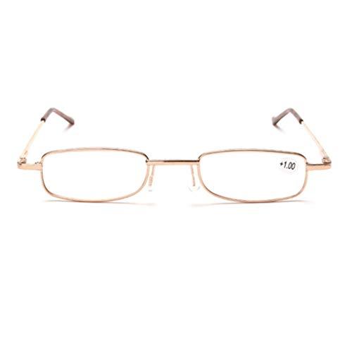 Lesebrille Metall Klassische Scharnier Stil Brille Lesehilfe Augenoptik Vollrandbrille Mit Etui
