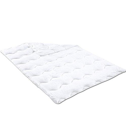PROHEIM Microfaser Steppbett 155 x 220 cm Oberbett für Allergiker geeignet Bettdecke Einziehdecke bei 60 °C Steppdecke maschinenwaschbar und trocknergeeignet