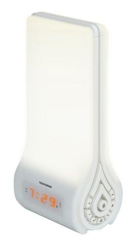 Telefunken Lichtwecker mit Radio, Kunststoff, weiß