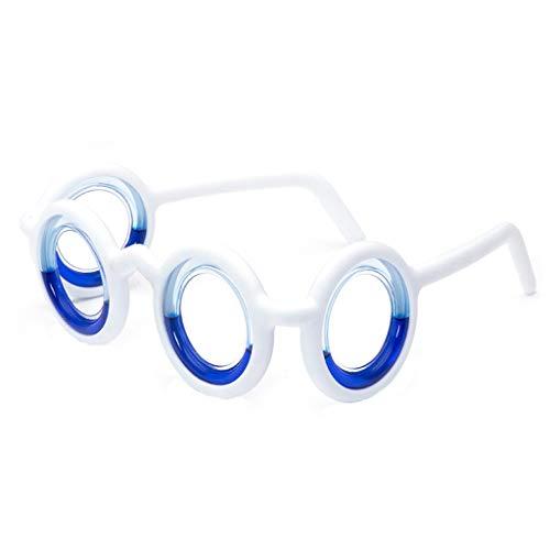 Igemy Anti Corona Brille, Brille Heilung Auto Krankheit Magnetic Anti-Bewegung (Weiß)