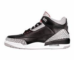 san francisco 3c171 eed85 Nike Scarpe Uomo Air Jordan 3 Retro Black Cement in Pelle Grigia e Nera  854261-