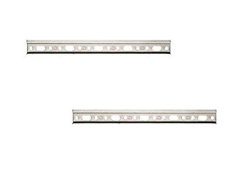 Preisvergleich Produktbild 2 Stück - Wandschiene Schrankaufhänger-Schiene Aufhängeschiene für Oberschränke & Küchen-Möbel | Länge 107 mm | Stahl verzinkt mit 100 kg Tragkraft | Möbelbeschläge von GedoTec®