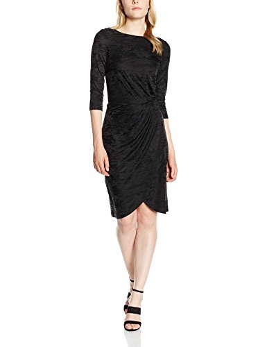 french-connection-womens-stable-jacquard-wrap-3-4-sleeve-dress-black-12