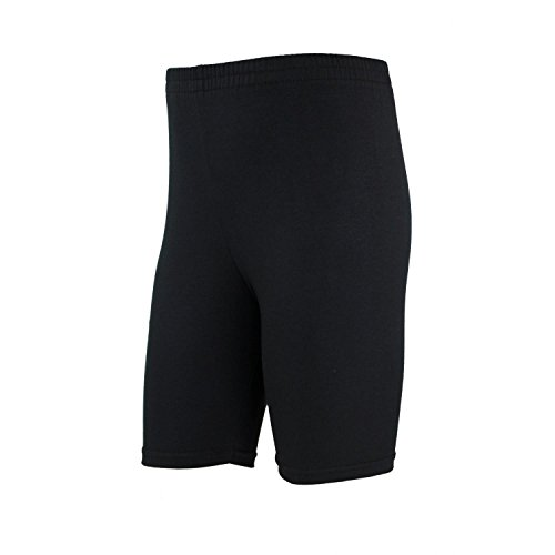 TupTam Mädchen Leggings Kurz Radlerhose Baumwolle, Farbe: Schwarz, Größe: 140