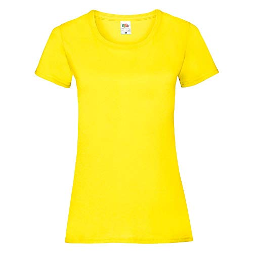 Fruit of the Loom - Lady-Fit T-Shirt 'Valueweight T' / Yellow, - Bienen Kostüm Frauen