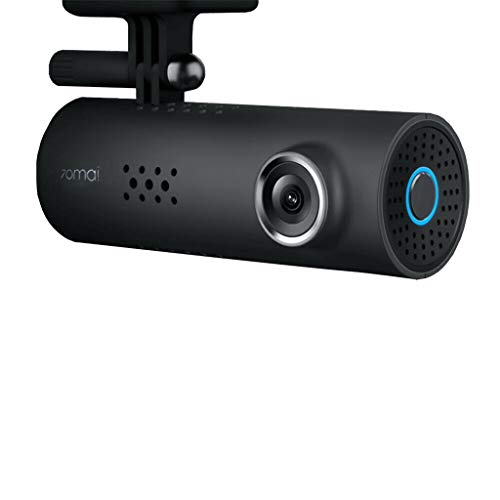 SMILEQ Accesorios para Bicicletas Versión Global para Xiaomi 70MAI Smart Dash CAM 130 Grados 1080P WiFi Coche DVR WiFi (Negra)