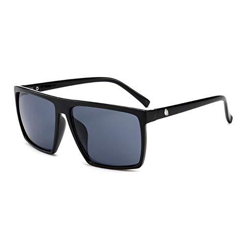 WZYMNTYJ Steampunk Square Sonnenbrillen MännerAlle Schwarze BeschichtungSonnenbrilleFrauen Markendesigner Retro