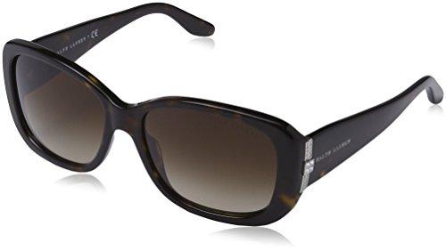 Ralph lauren donna 0rl8127b0313 occhiali da sole, marrone (dark havana/browngradient), 55
