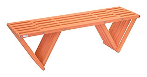 GloDea XQBC60YPMM Outdoor Bench, Muted Mesa