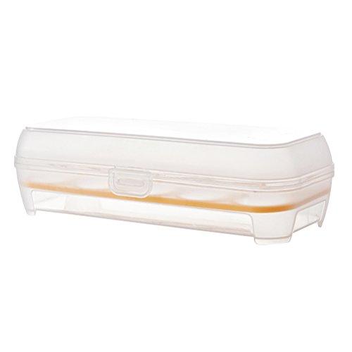 OUNONA Transparente Ei-Halter Stoßfeste Behälter Aufbewahrungsbox Fach für 10 Eier (Orange)