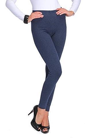 FUTURO FASHION Épais Hiver Doublure Polaire Leggings Longueur Maxi Coton