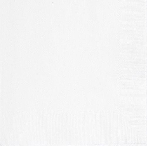 Unique Party- Paquete de 20 servilletas de papel, Color blanco, 13 cm (3101)